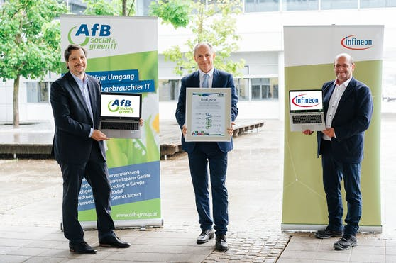 Zweites Leben für gebrauchte IT-Geräte: Infineon leistet nachhaltigen Beitrag für Umwelt und Gesellschaft