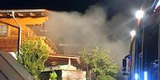 Vater rennt in brennendes Haus, um Tochter zu retten