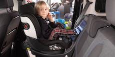 Warnung! Kindersitz löste sich beim ÖAMTC-Crash-Test
