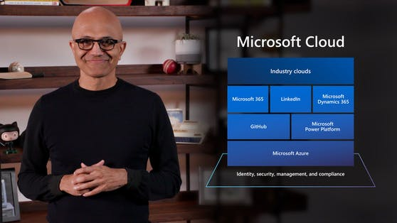 Satya Nadella bei der Microsoft Build 2021.