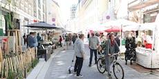 """Erster Markttag am neuen Wiener """"Neubaumarkt"""""""