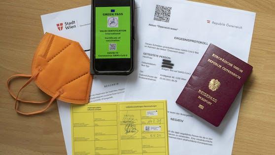 """Der """"Grüne Pass"""" gilt als Eintrittstest in Gastro, Hotels und Co."""