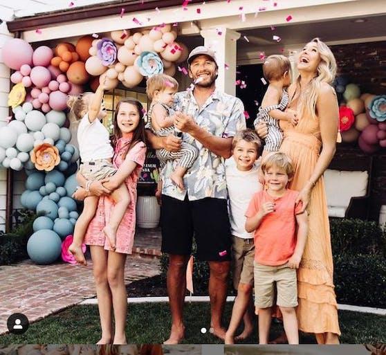 Bode Miller feiert mit seiner Familie das achte Kind.