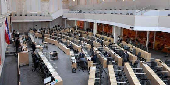 Sitzung des Bundesrates im Parlamentsausweichquartier in der Wiener Hofburg