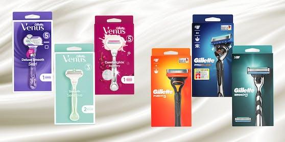 Gewinne jetzt ein Produktpackage von Gillette oder Gillette Venus: Die verbesserte Technologie und die nachhaltige Verpackung machen die tägliche Rasur zum wahren Vergnügen!
