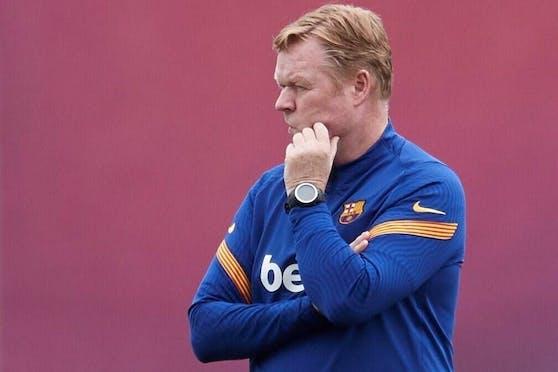 Erlitt Barca-Coach Ronald Koeman eine Panikattacke?