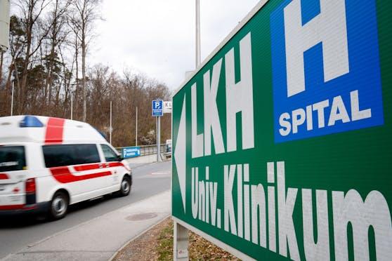 Einfahrt zum LKH Graz