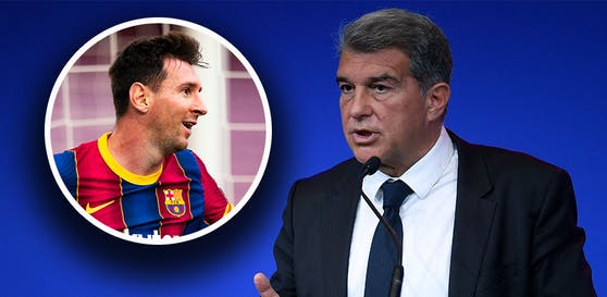 Joan Laporta spricht über die Zukunft von Lionel Messi.