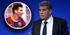Barca-Boss Laporta spricht über Messis Vertrags-Poker