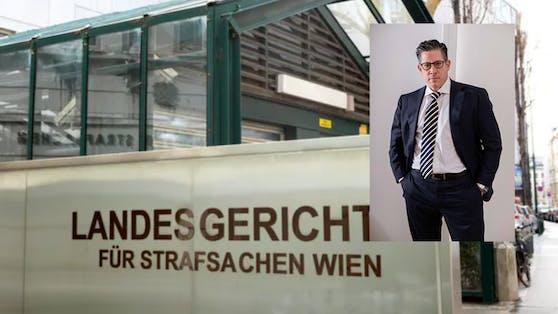 "Anwalt F. Höllwarth vertritt am Wiener Landl den ""Haupttäter""."