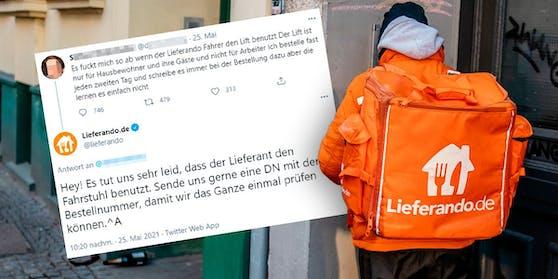 Die Reaktion des Social Media Teams des Lieferservice sorgte für Protest unter den Usern.
