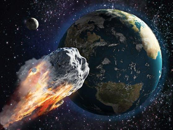 Derfiktive Asteroid 2021PDC würde am20. Oktober 2021 im tschechischen Grenzgebiet zu Deutschland und Österreich einschlagen.