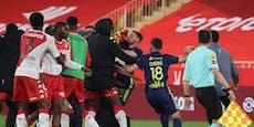 Massenschlägerei – fünf Mal Rot im Ligue-1-Topspiel