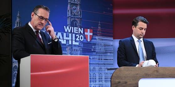 Heinz-Christian Strache (Team Strache) und Dominik Nepp (FPÖ)