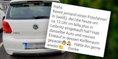 Frau packt Einkauf bei BillaPlus in falschen VW