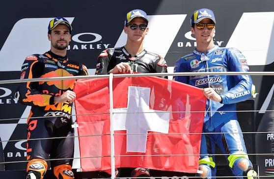 Das MotoGP-Stockerl in Mugello: Trauer um Jason Dupasquier