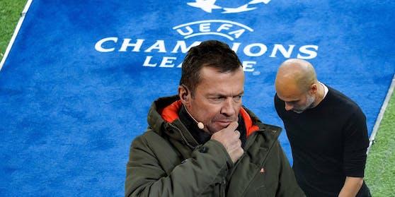 Lothar Matthäus nimmt sich Pep Guardiola zur Brust.