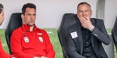 Thalhammer bleibt LASK-Coach, Pogatetz muss gehen