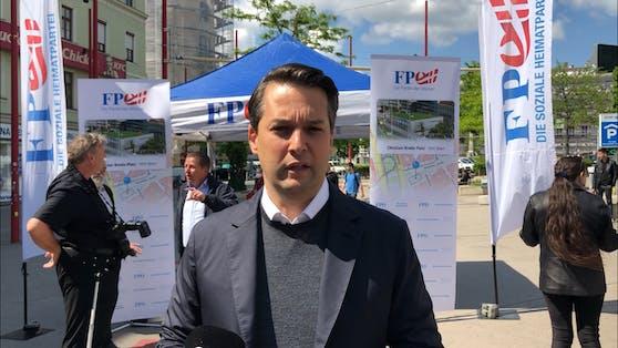 Dominik Nepp fordert Markthalle neben Westbahnhof.