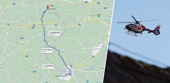 20 Kilometer von Stadl-Paura bis nach Gallspach ging der 9-Jährige zu Fuß.