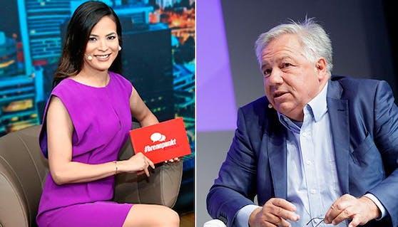 """Star-Moderatorin Katia Wagner (""""krone.tv"""") packt gegen Fellner aus."""