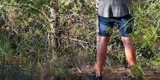 Mann (33) pinkelt gegen Baum, dann eskaliert alles