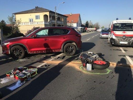 Der Biker-Unfall in Strasshof