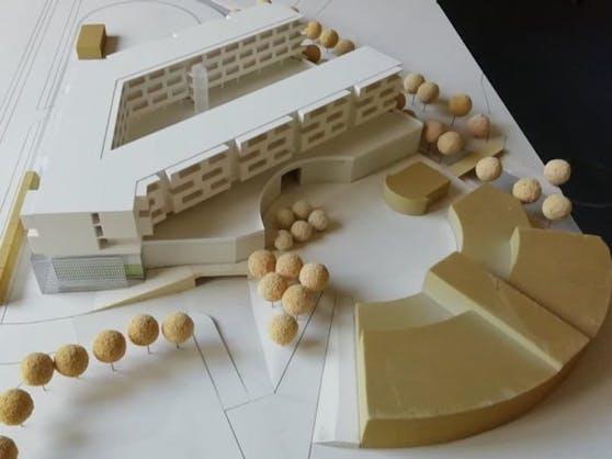 In Linz-Auwiesen werden direkt auf ein Einkaufszentrum neue Wohnungen gebaut.