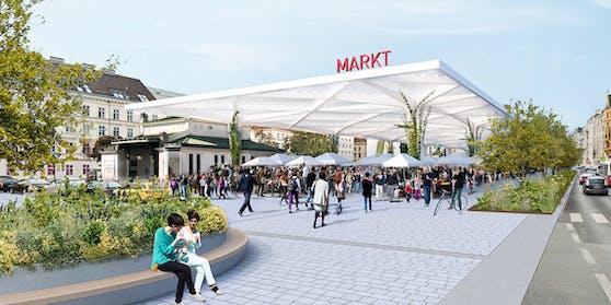 So sieht der Entwurf einer Markthalle am Naschmarkt aus.