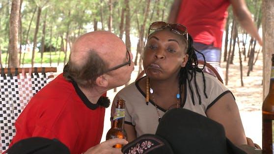 Harry mit der Kenianerin Loise