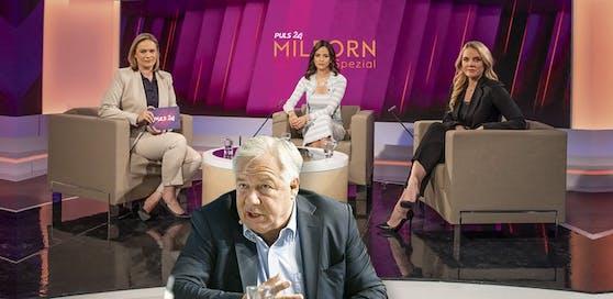 Katia Wagner (33) und Raphaela Scharf (30, r.) bei Corinna Milborn im TV, Fellner lehnte eine Einladung ab
