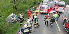 Kastenwagen prallte gegen Lkw– 45-Jähriger tot