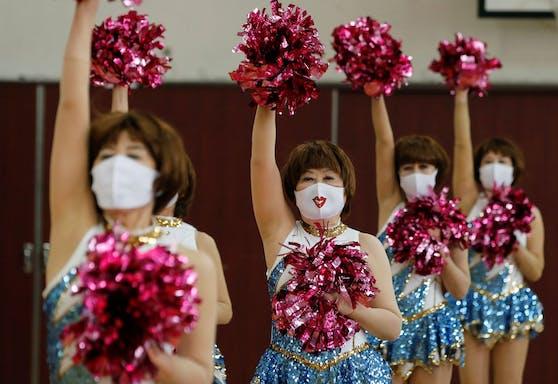 Nach einem Jahr Pause wieder im Training: Die Japan Pom Poms.