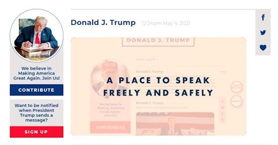 """Donald Trump startet seinen eigenen Blog """"From the Desk of Donald J. Trump""""."""