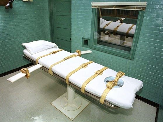 Eine Todeszelle in einem US-Gefängnis, in der Häftlinge mit der Giftspritze hingerichtet werden. (Symbolbild)