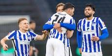 3:0! Hertha verlässt nach Quarantäne die Abstiegsränge