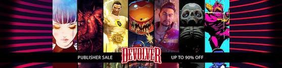 Devolver wirft im Publisher-Wochenende auf Steam mit massiven Rabatten um sich.