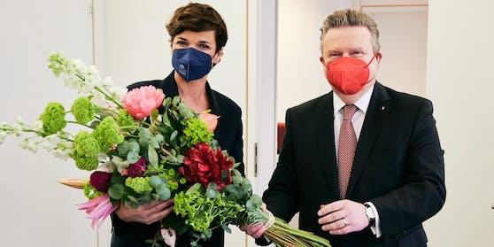 Der Wiener Bürgermeister Michael Ludwig hat es sich heute Vormittag nicht nehmen lassen, der SPÖ-Bundeschefin persönlich zu gratulieren
