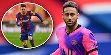 Neymar fix bis 2025 bei PSG, kommt jetzt auch Messi?