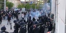 Straßenschlacht mit Polizei bei U6-Station in Wien