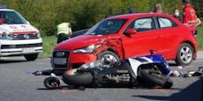 Audi-Lenker (85) gegen Motorrad-Fahrer, 24-Jähriger tot