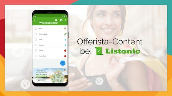 Offerista kooperiert mit der internationalen Einkaufslisten App Listonic.