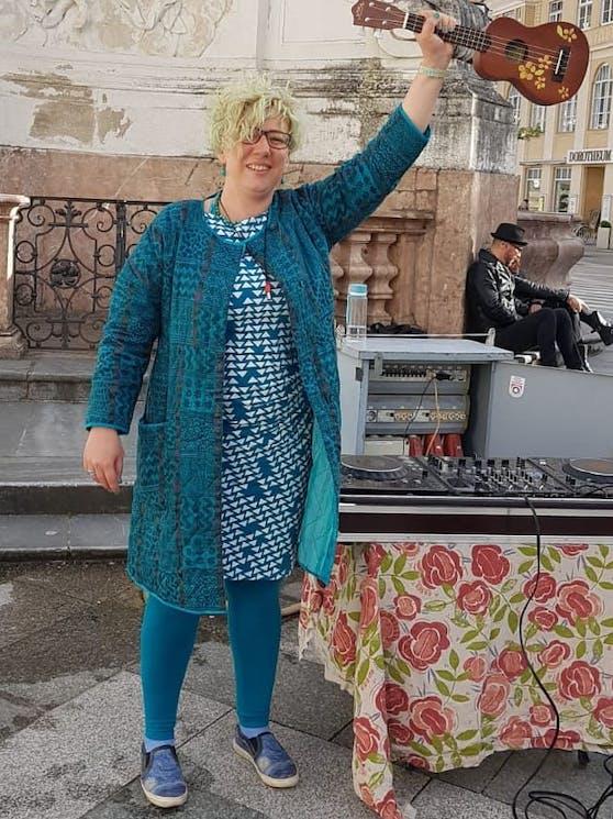Sabrina Nußbaumer wollte mit ihrem Flashmob ein Zeichen gegen häusliche Gewalt setzen.