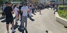 Wiener Eis-Salon wird gestürmt, riesige Warteschlange