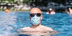 Maskenpflicht im Freibad – außer beim Schwimmen