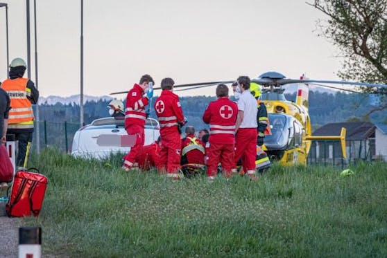Unfall im Bezirk Melk: Einsatzkräfte vor Ort