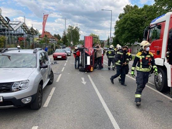 Am Montag (31. Mai 2021) kam es in Wien-Penzing zu einem schweren Verkehrsunfall.