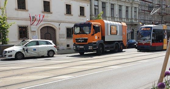 In Wien-Alsergrund kam es am Dienstag zu einem Crash.