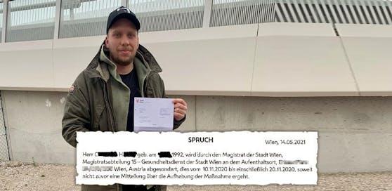 Im Mai abgesondert. Christoph H. (l.) wartete ein halbes Jahr auf seinen Behörden-Bescheid.