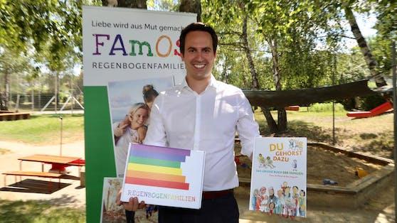 Vizebürgermeister Christoph Wiederkehr (Neos) präsentierte die Info-Box.